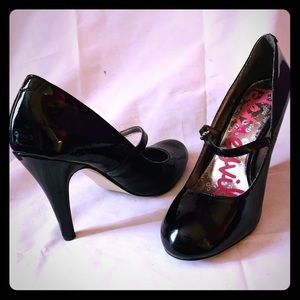 Black Patent Leather Mary Jane Heels Betseyville